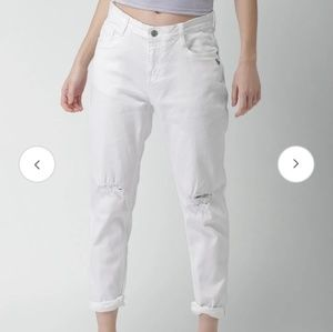 🆕️ Slim boyfriend low waist off white jeans